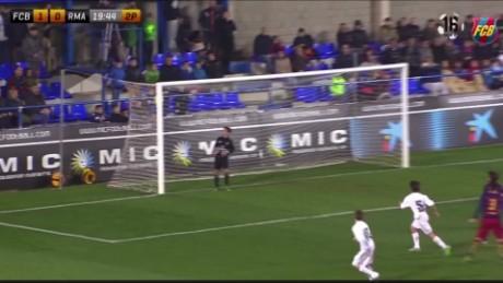 Watch mini-Messi score stunning goal