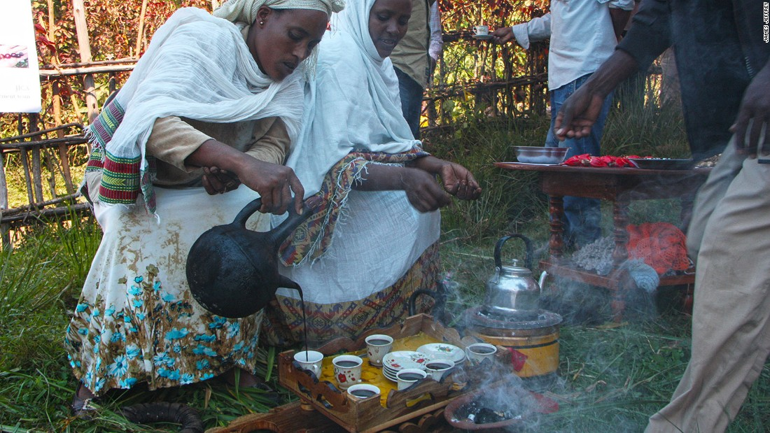 Traditional coffee ceremonies are important parts of daily life in and around Bonga.