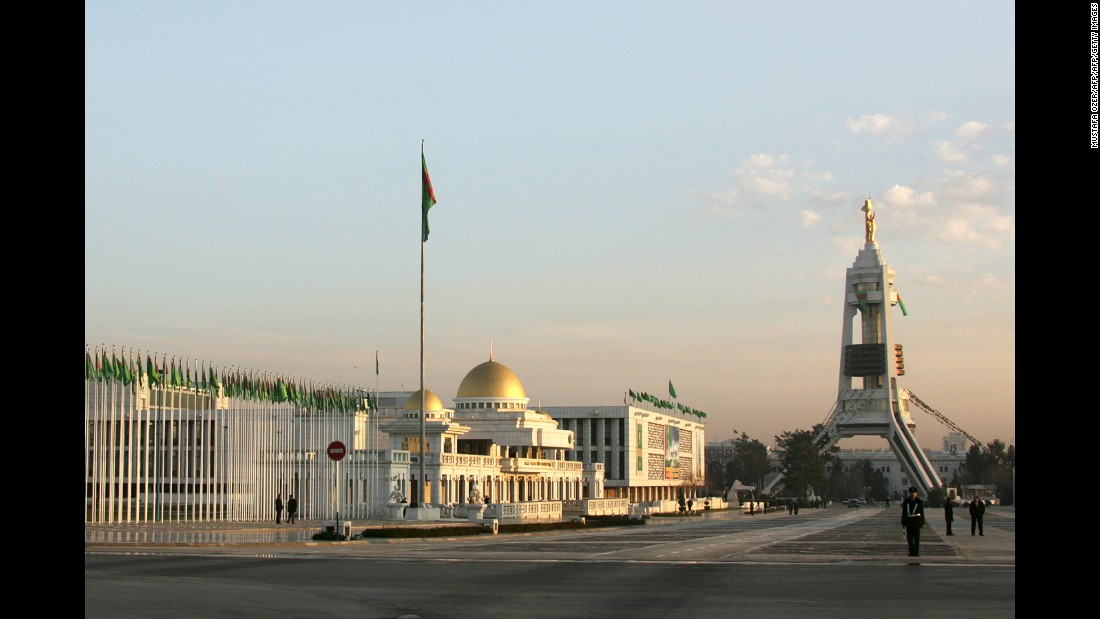 President Gurbanguly Berdimuhamedov, Niyazov's successor, marked a symbolic changing of the guard four years after taking office, moving one of his predecessor's monuments from the center of the city in 2010. The Turkmen Neutrality Arch (seen right, in its old position) is topped by a golden statue of Niyazov which once rotated to face the sun. The arch symbolizes Turkmenistan's rigidly neutral status on all diplomatic matters.
