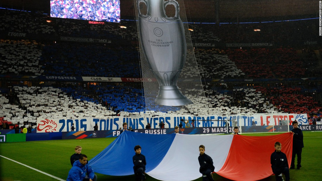 Also on Tuesday, the French national soccer team was playing its first match at the Stade de France since the Paris attacks in November. The country is hosting Euro 2016 this summer.