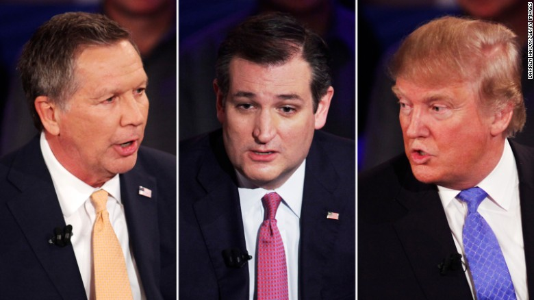 cruz trump kasich townhall nightof photos comp