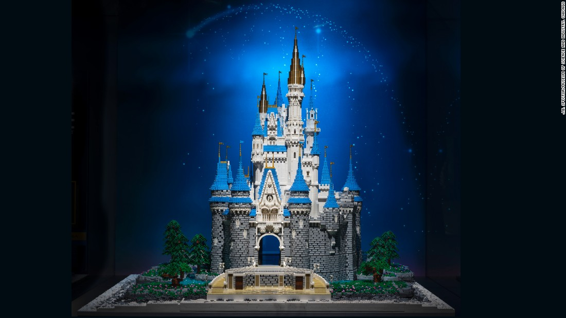 "Sprinkling some Disney magic on the exhibit, Tucker built a replica of Cinderella's Castle. He explains, ""I'm just an artist trying to repurpose a child's toy as a creative tool."""