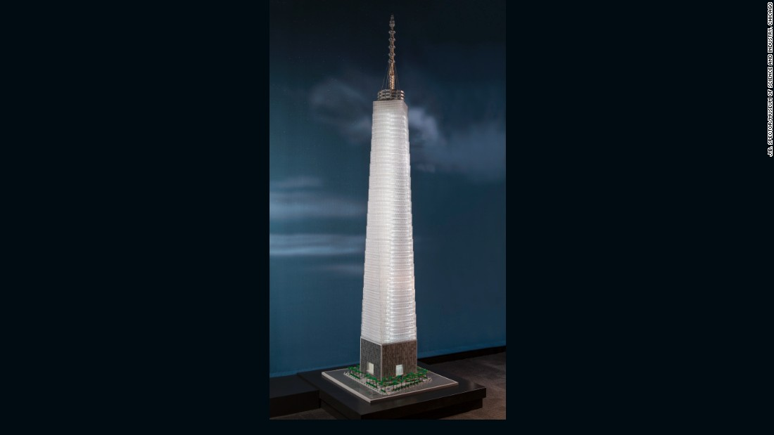 The real version of the One World Trade Center in New York City is the tallest skyscraper in the Western Hemisphere.