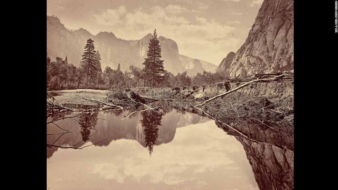 "The photographer of this photo, ""Looking down Yosemite Valley,"" is unknown, but the Getty Museum guesses it was taken around 1872 by either Carleton Watkins, C.L. Weed or Eadweard J. Muybridge. In the late 1800s, many photographers traveled throughout the American West to record the landscape. Sometimes it was for the government. Sometimes it was for railroad companies looking for the best route. And sometimes it was just to make good photographs to sell once they returned home."