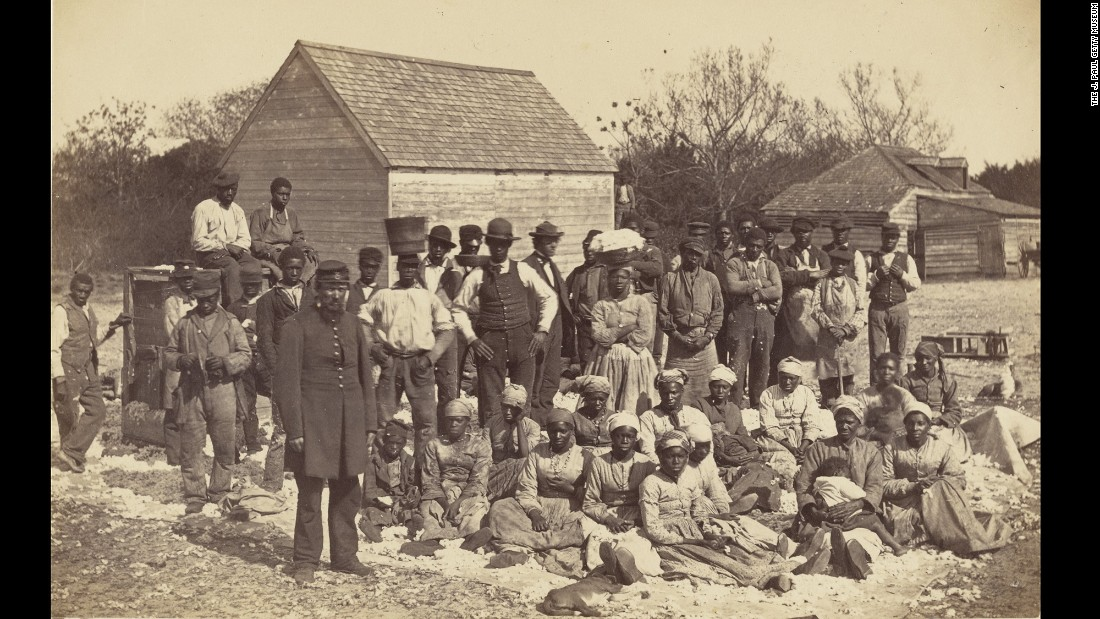 During the Civil War, photographer Henry P. Moore traveled to South Carolina with the 3rd New Hampshire Regiment. These are the slaves of Confederate Brig. Gen. Thomas Fenwick Drayton.