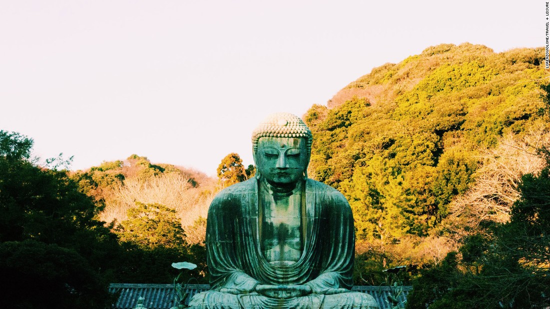 In Kamakura just south of Tokyo, Kotoku-In Temple features the famous Great Buddha. No one knows exactly how old the bronze statue is but some estimates date it back to at least 1252.