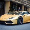 gold cars Lamborghini