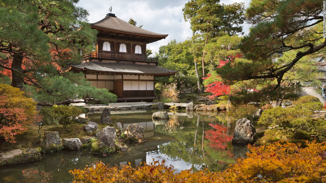 Referred to in English as the Silver Pavilion, Kyoto's Ginkaku-ji was constructed in 1482 by Ashikaga Yoshimasa, a shogun who built the home to mimic his great-grandfather's villa -- now known as the Golden Pavilion.