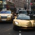 gold cars pair