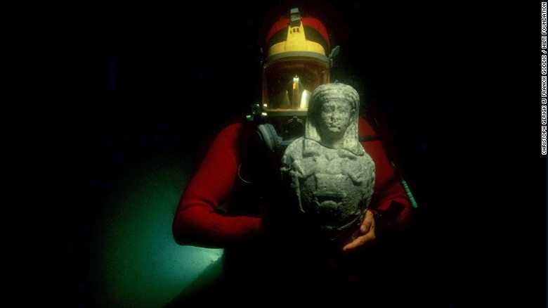 "The ancient Egyptian cities of Canopus and Thonis-Heracleion sat on the seabed of the Abukir Bay for over a thousand years before pioneering archeologist Franck Goddio began excavating in 199. Now his finds are part of an upcoming exhibition at the British Museum in London: <a href=""http://www.britishmuseum.org/whats_on/exhibitions/sunken_cities.aspx"" target=""_blank"">Sunken Cities: Egypt's Lost Worlds</a>."