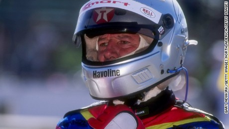 Mario Andretti prepares to race at Long Beach, where he won four times -- once in F1 and three times in IndyCar.