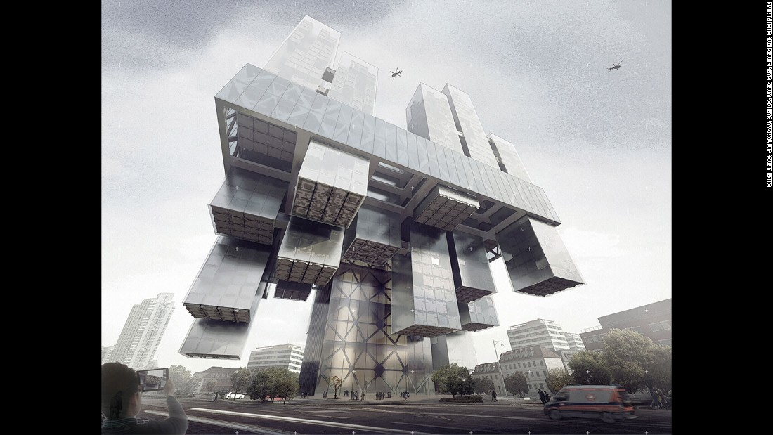 "Chinese designers Chen Linag, Jia Tongyu, Sun Bo, Wang Qun, Zhang Kai and Choi Minhye proposed building a hospital that shifts and transforms according to the requirements of patients. ""The idea of the hospital is that the patient does not have to move by himself -- the wards can move to where it should go to."""
