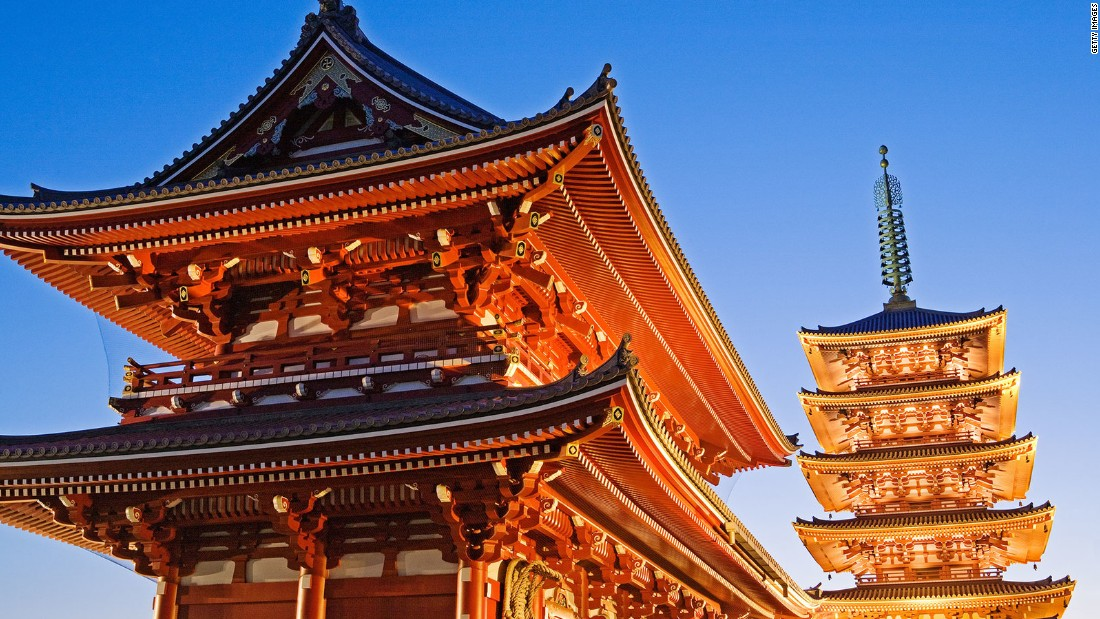 Senso-ji is Tokyo's oldest temple. It dates to 645. Per legend, two fishermen found a statue of Kannon in the nearby Sumida River in 628 and presented it to their village chief. He then remodeled his own home into a small temple, where the statue is enshrined.