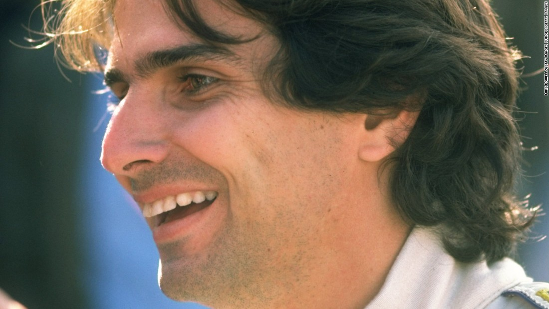 Like father, like son. Nelson Piquet, seen here in 1983, also won his first Formula One race at Long Beach in 1980.