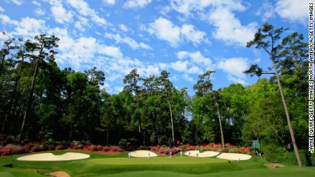 Augusta's 13th green epitomises the sumptuous setting.