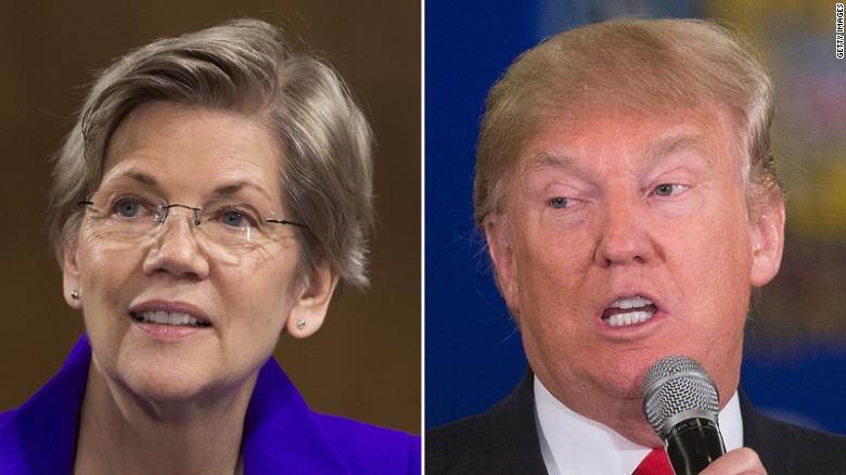Elizabeth Warren gives Trump a dose of his own medicine on ...
