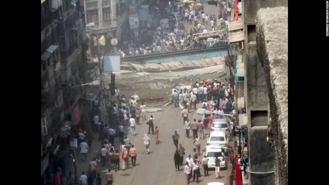 The collapse occurred in a bustling commercial area of Kolkata.