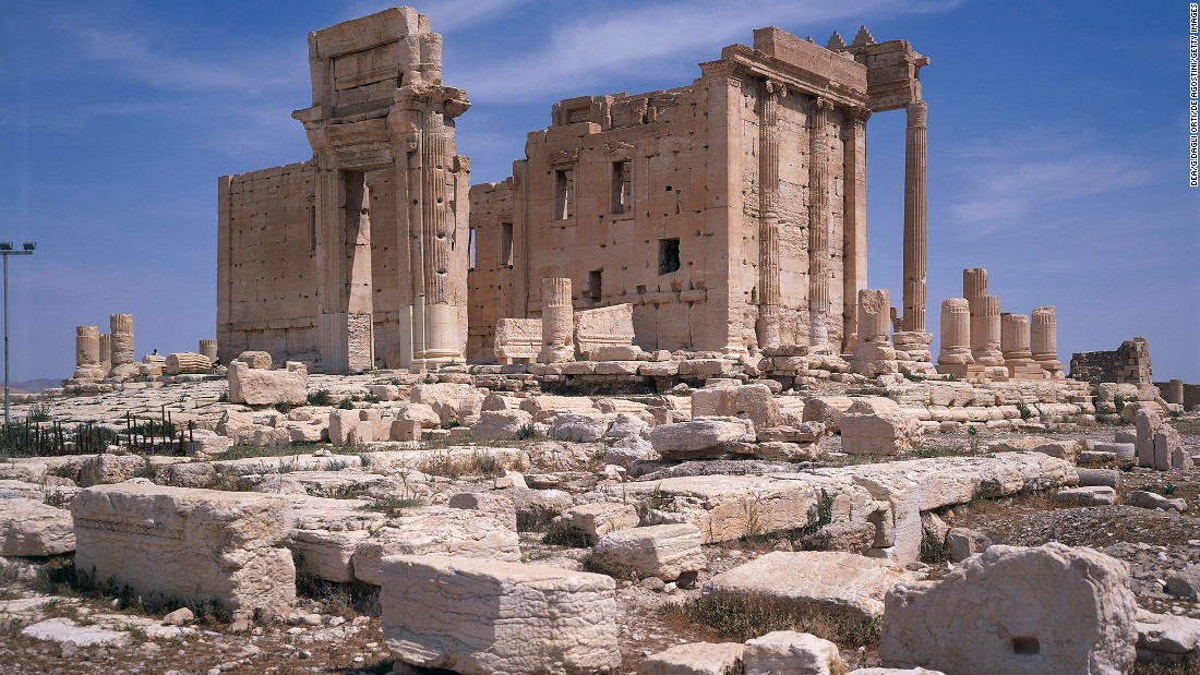 "<strong>Before:</strong> The ruins of the 2,000-year-old Temple of Baalshamin are seen in Palmyra, Syria, in 2007. The ISIS militant group took over the ancient city last year and razed parts of its <a href=""http://whc.unesco.org/en/list/23"" target=""_blank"">world heritage site.</a> Click through to see the landmarks before and after ISIS' occupation."