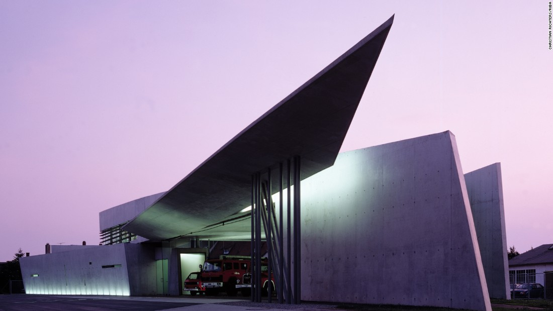 The Vitra Fire Station, Zaha Hadid's first independently realized building, was completed in 1993.