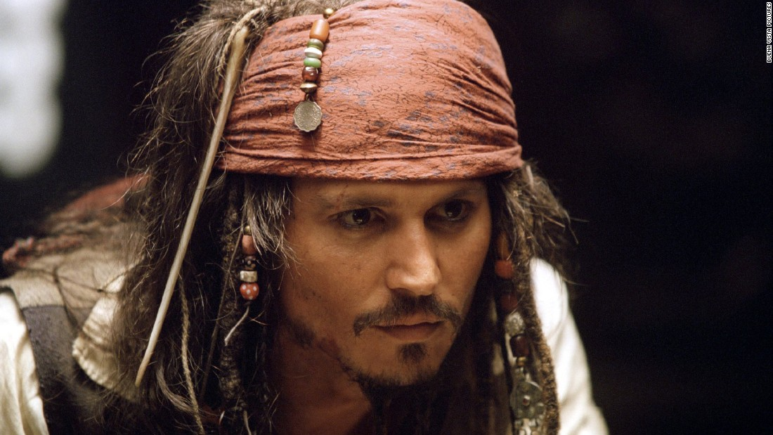 """Dreadlocks are part of the costume for Johnny Depp as Captain Jack Sparrow in the """"Pirates of the Caribbean"""" movies."""