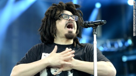 Adam Duritz of the Counting Crows performs at the KAABOO Festival in 2015 in Del Mar, California.