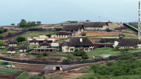 The home of President Jacob Zuma in Nkandla, which some have derisively referred as Zumaville.