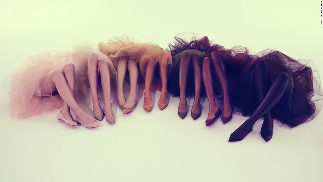 Christian Louboutin unveils nude shoes for 'every woman ...
