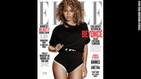 Beyonce on the cover of Elle.