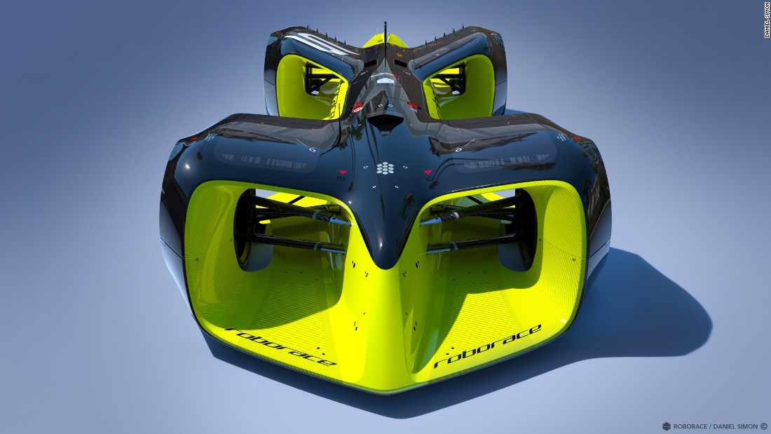 "The planned ""Roborace"" series is scheduled to be contested during <a href=""http://www.fiaformulae.com/en"" target=""_blank"">Formula E</a> championship weekends. Organizers have commissioned Daniel Simon -- famous for his work on movies like ""Tron: Legacy"" -- to design the race car."
