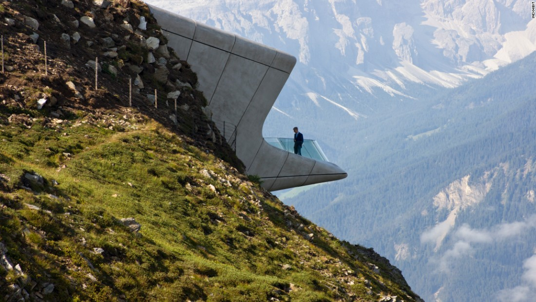 Sitting atop Mount Kronplatz, the mountain museum was a collaboration between Hadid and Reinhold Messner, the first man to complete the ascent of Mount Everest without supplemental oxygen.