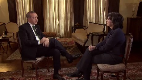 Turkey's Recep Tayyip Erdogan told CNN's Christiane Amanpour he was open to criticism.
