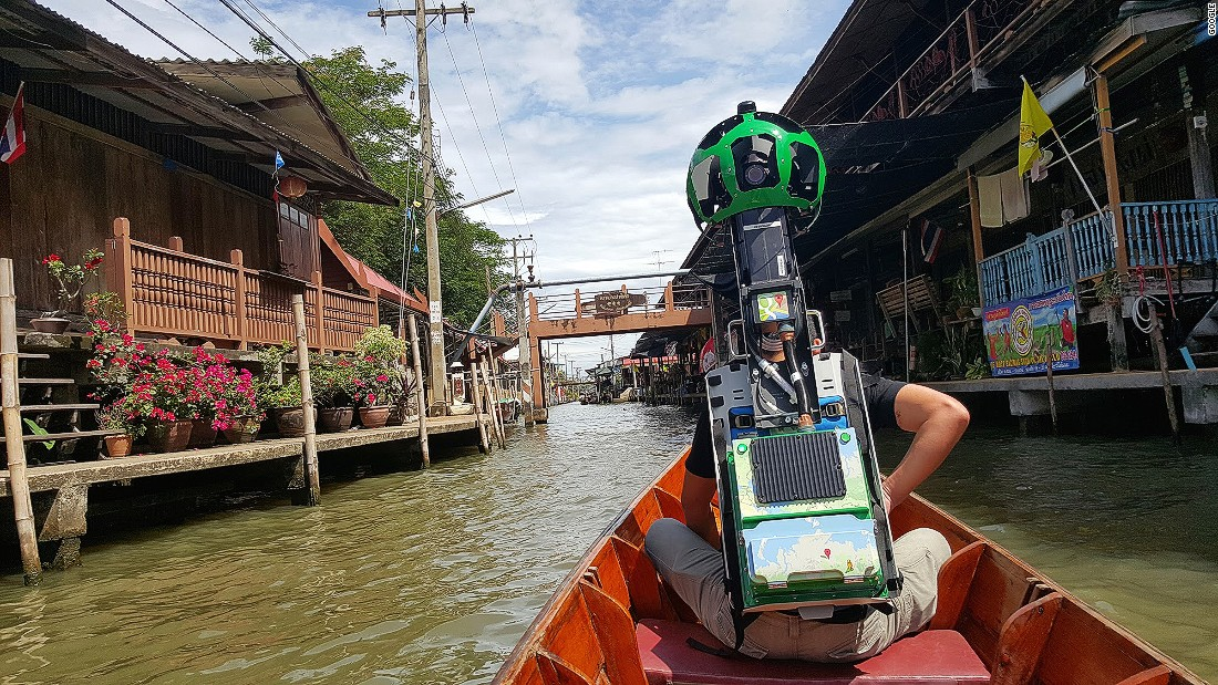 """We really wanted to include the floating markets, so we worked out the right kind of boat we could go on to do that,"" says Cynthia Wei, Google Street View's Asia Pacific program manager."