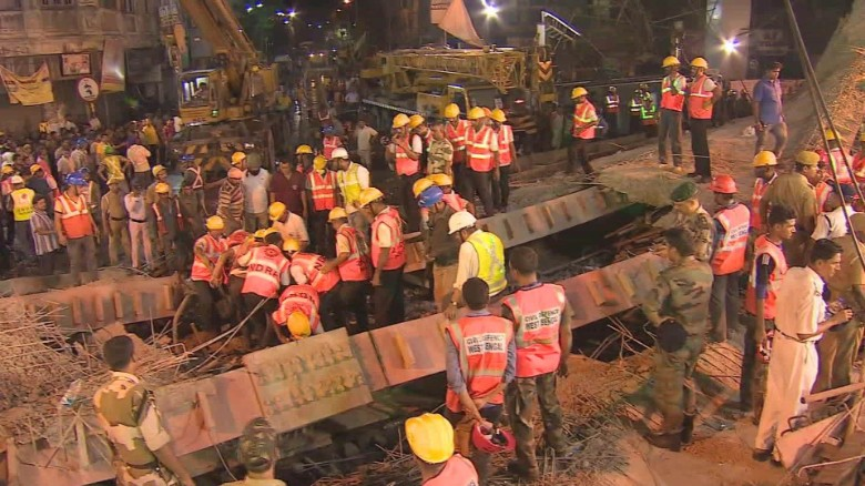 Several killed by bridge collapse in India