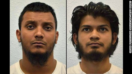 Junead Khan, left, and Shazib Kahn plotted to join ISIS, prosecutors say.