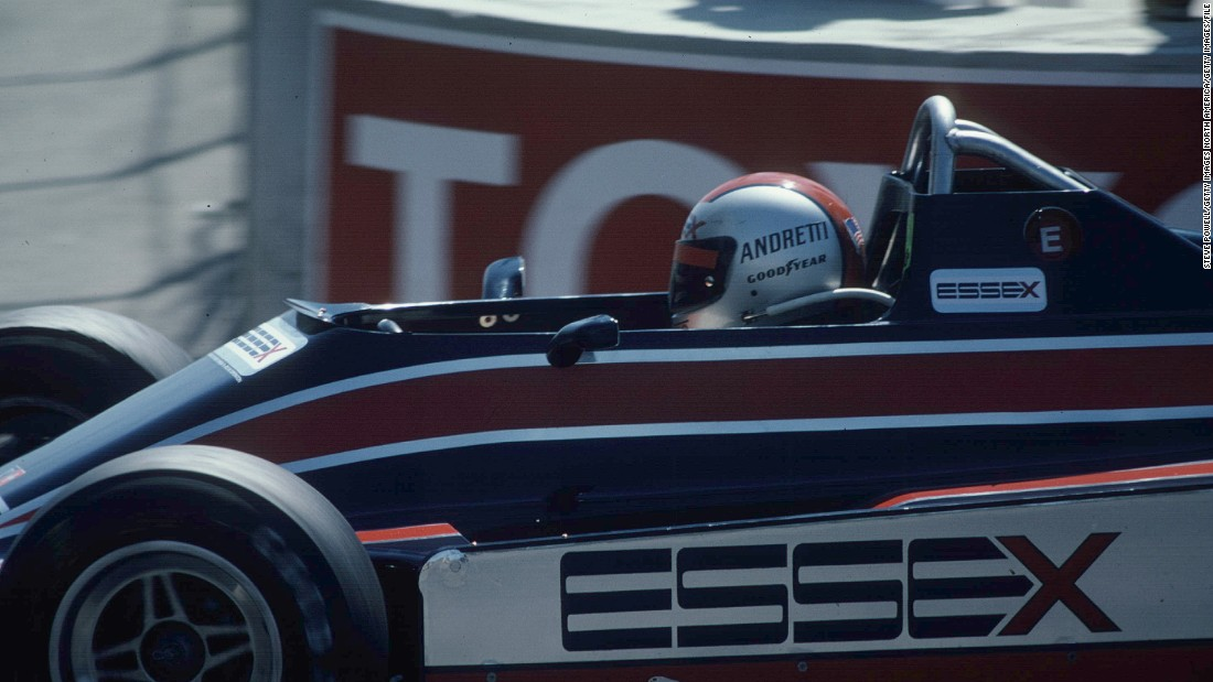 Andretti started a total of 128 F1 races. He finished on the podium a total of 19 times. The 1980 United States Grand Prix West (pictured) wasn't one of his more memorable races -- he retired on the opening lap.