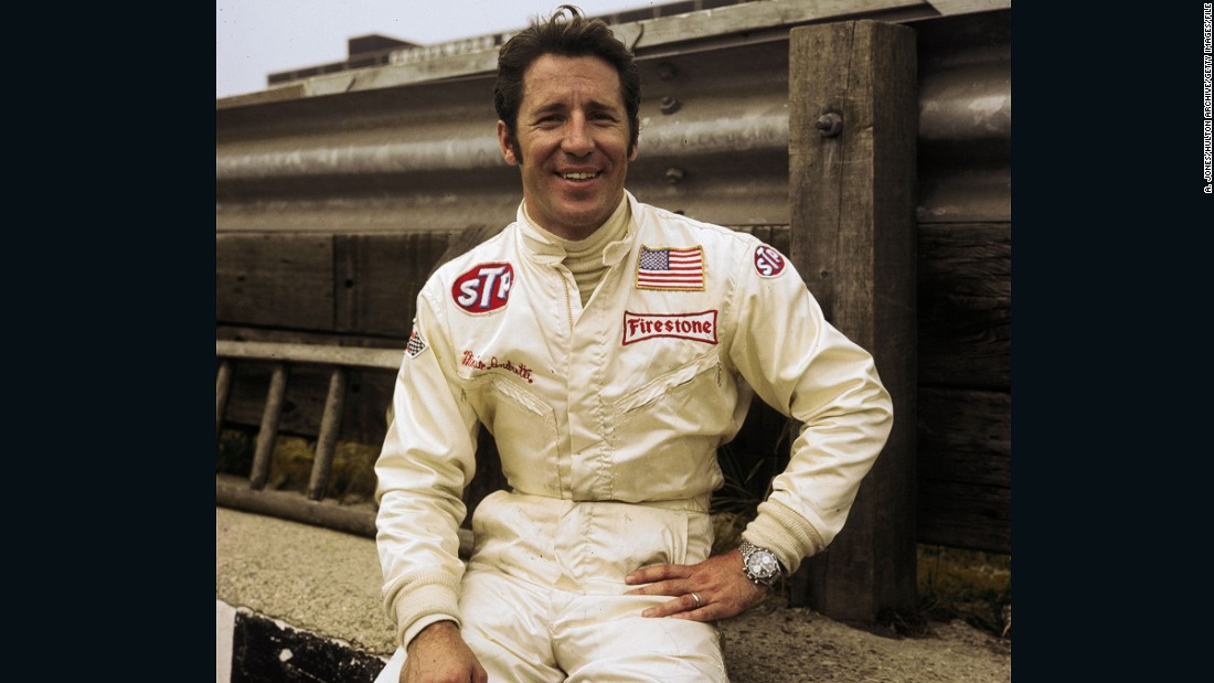 A young Andretti posing for the cameras at Brands Hatch ahead of the 1970 British Grand Prix. The Italian-American won his only world title in 1978 -- 17 years after Phil Hill became the first American win the F1 drivers' championship.
