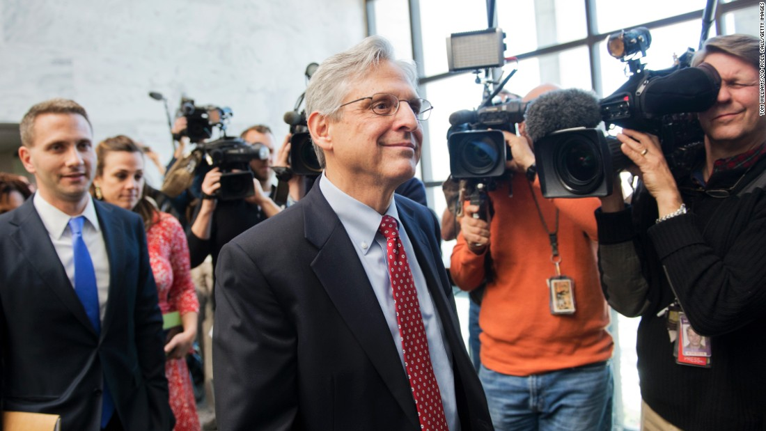 "Merrick Garland, the U.S. Supreme Court nominee, arrives in Washington for a meeting with U.S. Sen. Mark Kirk on Tuesday, March 29. Kirk, the first Republican senator to call for confirmation hearings and a vote on Garland, <a href=""http://www.cnn.com/2016/03/29/politics/merrick-garland-supreme-court-republican-meeting/"" target=""_blank"">blasted the GOP leadership</a> for refusing to act on the nomination."