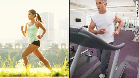 Treadmills and bikes, indoors versus outdoors