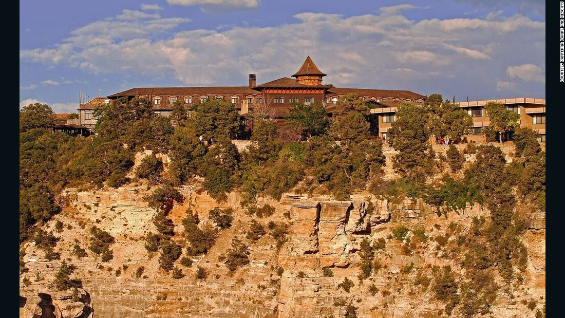 Perched on the rim of Arizona's Grand Canyon, El Tovar opened its doors in 1905. The hotel was operated by the Fred Harvey Co. in conjunction with the Atchison, Topeka and Santa Fe Railway.