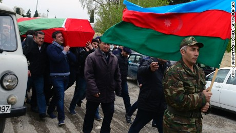 An Azerbaijani serviceman was killed Saturday during clashes with Armenia.