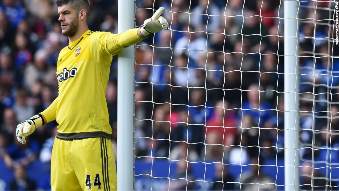 Southampton goalkeeper Fraser Forster twice denied Leicester in the second period.