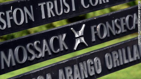 View of a sign outside the building where Panama-based Mossack Fonseca law firm offices are in Panama City, on April 4, 2016. A massive leak -coming from Mossack Fonseca- of 11.5 million tax documents on Sunday exposed the secret offshore dealings of aides to Russian president Vladimir Putin, world leaders and celebrities including Barcelona forward Lionel Messi. An investigation into the documents by more than 100 media groups, described as one of the largest such probes in history, revealed the hidden offshore dealings in the assets of around 140 political figures -- including 12 current or former heads of states. AFP PHOTO/ Rodrigo ARANGUA / AFP / RODRIGO ARANGUA        (Photo credit should read RODRIGO ARANGUA/AFP/Getty Images)