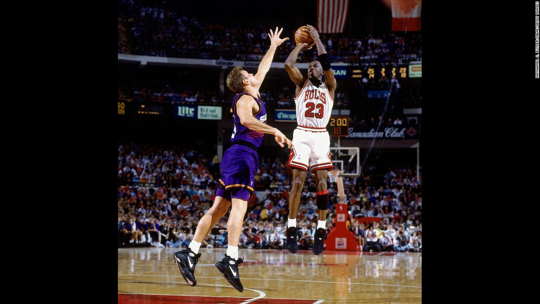 "<strong>Most points per game in an NBA Finals series:</strong> Michael Jordan and the Chicago Bulls won six NBA titles during his career. But ""His Airness"" might have been at his peak in 1993, when he averaged 41 points in a six-game victory over Dan Majerle and the Phoenix Suns."