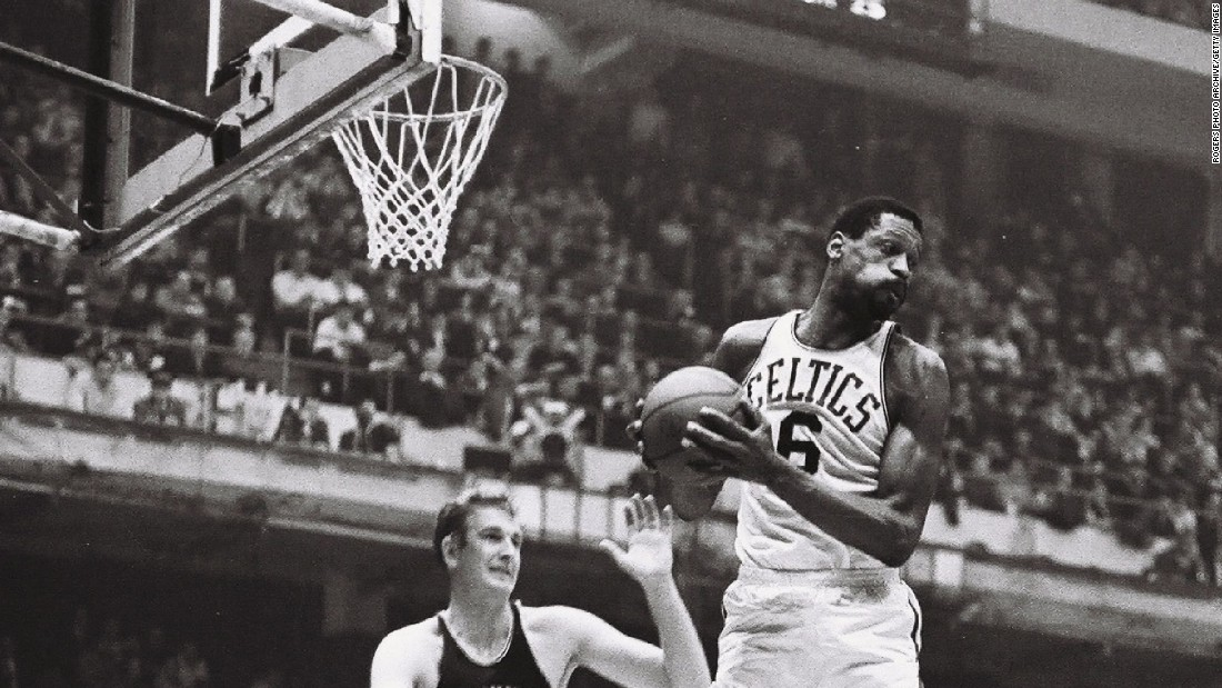 <strong>Most rebounds in an NBA Finals game: </strong>Bill Russell, seen here in 1966, pulled down 40 rebounds twice in the NBA Finals.