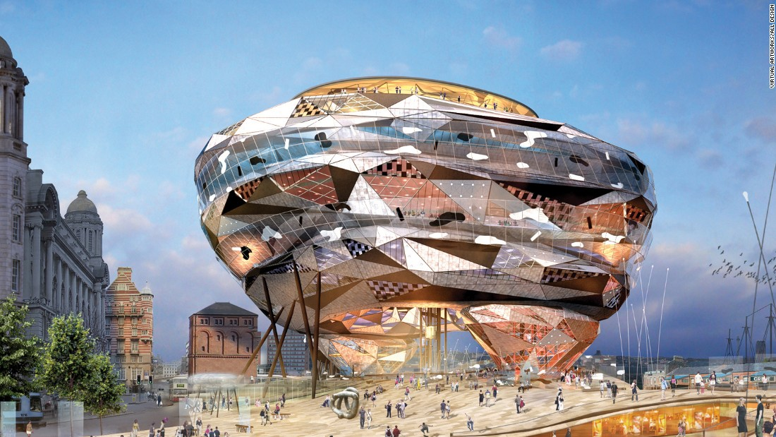 "It was supposed to be the centerpiece of Liverpool, England's redevelopment as European Capital of Culture in 2008. As it stands, all that remains of the Fourth Grace (also known as The Cloud) are these beautiful renderings. The concept, which was once described as a ""diamond knuckleduster"" by <a href=""http://www.theguardian.com/uk/2004/jul/23/northerner.helencarter"" target=""_blank"">The Guardian</a>, won an architectural competition in 2002 for a fourth building to sit alongside Liverpool's Three Graces - the Royal Liver Building, the Cunard Building and the Port of Liverpool building."
