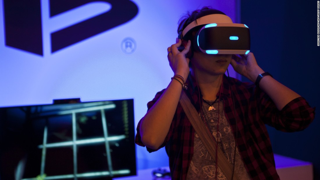 "Sony Computer Entertainment has developed a<a href=""http://money.cnn.com/2016/03/16/technology/sony-playstation-vr-headset/""> VR headset</a> for its PlayStation 4 video game console. It will be released in October 2016."