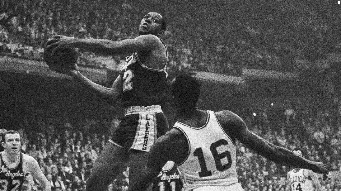 <strong>Most points in an NBA Finals game:</strong> The Lakers' Elgin Baylor scored 61 points during a Finals game against Boston on April 14, 1962. The Lakers won that game but went on to lose the series in Game 7, pictured here.