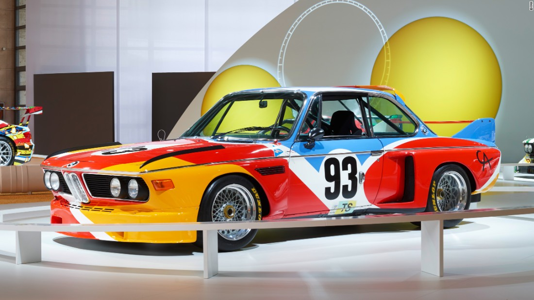 The 3.0 CSL (1968--1975) is as appreciated for its beautiful design as its racing prowess. It also became the first of BMW's famed Art Car series when Alexander Calder painted one in 1975.