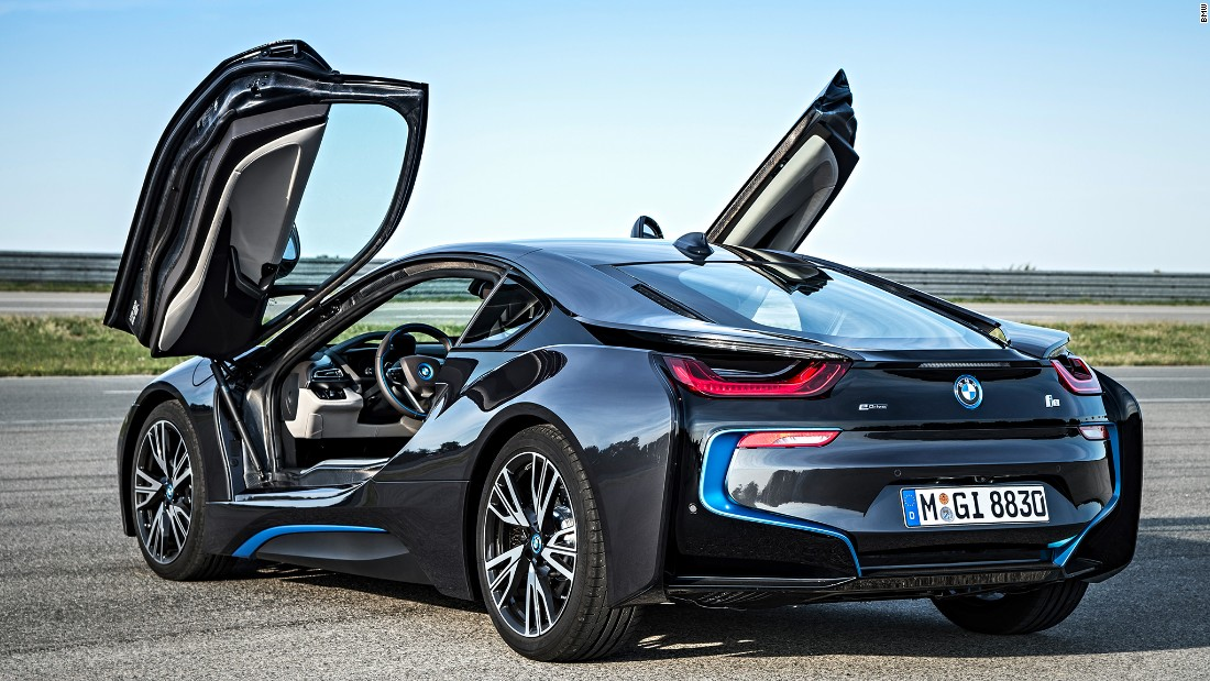 The i8 hybrid supercar, introduced in 2014, went seamlessly from concept to production and remains one of the most fun and attention-getting vehicles we've ever driven.