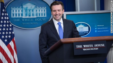 White House spokesman Josh Earnest speaks during the daily briefing at the White House in Washington, DC, on January 11, 2016.